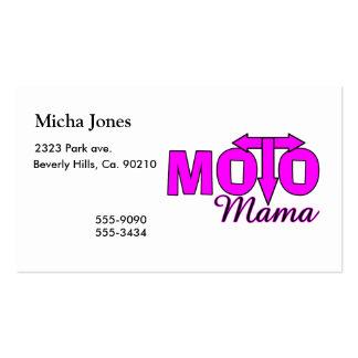 Mama de Moto Modelos Cartão De Visita