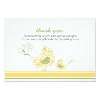mamã de Swirly do fatfatin & obrigado amarelos do Convites Personalizado