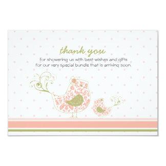 mamã de Swirly do fatfatin & obrigado cor-de-rosa Convite Personalizados