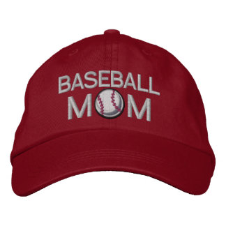 Mamã do basebol boné bordado