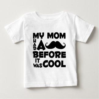 Mamã do bigode camiseta para bebê