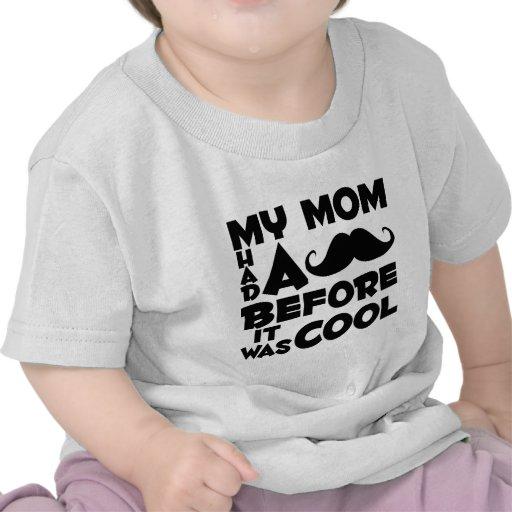 Mamã do bigode t-shirt