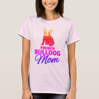 Mamã do buldogue francês camiseta