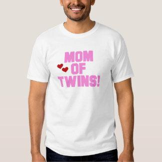 Mamã do camiseta e de presentes Gêmeo-Cor-de-rosa