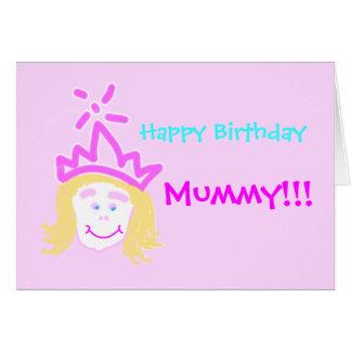 Mamã do cartão & do verso de aniversário da