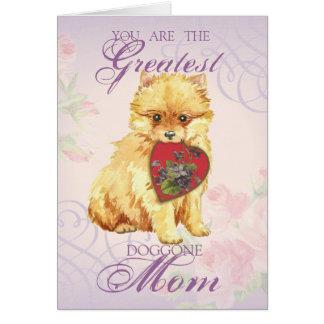 Mamã do coração de Pomeranian Cartão Comemorativo