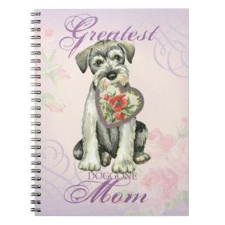 Mamã do coração do Schnauzer padrão Caderno