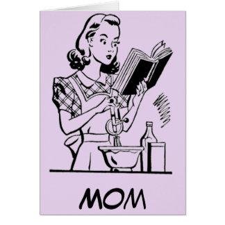 Mamã do cozimento do vintage - dia das mães cartão comemorativo
