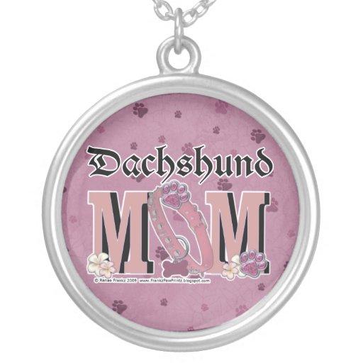 MAMÃ do Dachshund Colares Personalizados