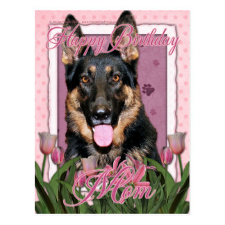 Mamã do feliz aniversario - german shepherd - Kuno Cartão Postal
