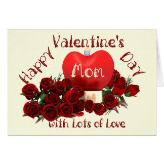 Mamã do feliz dia dos namorados cartão comemorativo