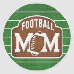 Mamã do futebol adesivo redondo
