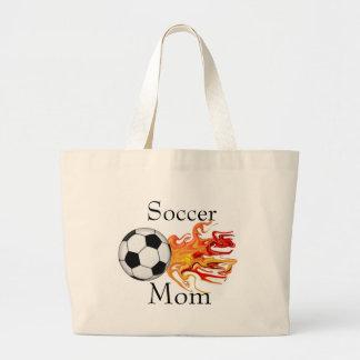 Mamã do futebol sacola tote jumbo