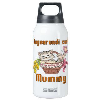 Mamã do gato da onda do Jaguarundi Garrafa De Água Térmica