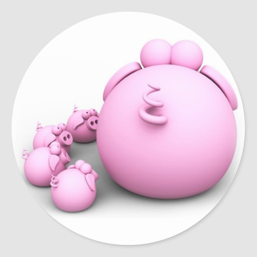 Como Fazer Adesivos De Oncinha ~ Mam u00e3 do porco adesivo redondo Zazzle