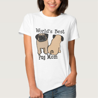 Mamã do Pug do mundo a melhor T-shirt