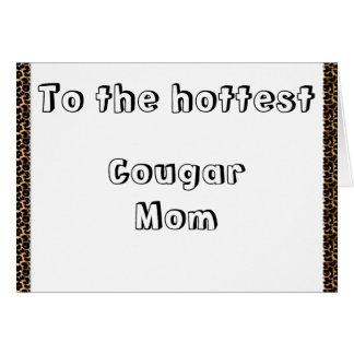 Mamã do puma cartão comemorativo