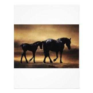 Mamã dos cavalos e I Modelo De Panfleto