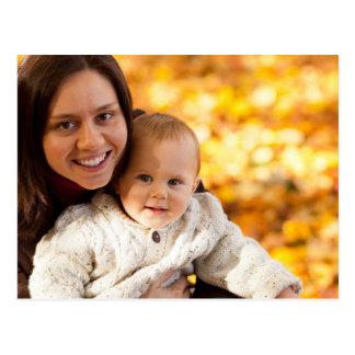 Mamã e bebê cartão postal