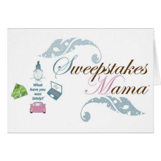 Mama Engrenagem dos sorteios Cartão Comemorativo