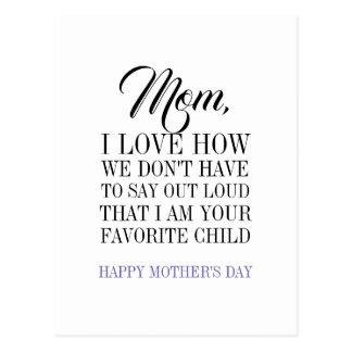 Mamã eu sou seu cartão favorito do dia das mães da