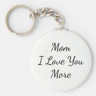 Mamã eu te amo mais chaveiro