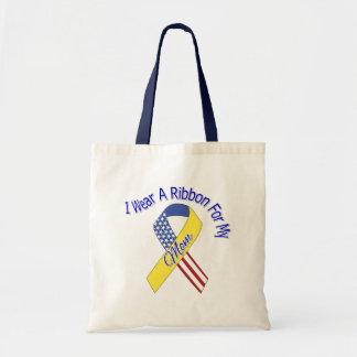 Mamã - eu visto um patriótico militar da fita bolsa de lona