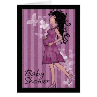 Mamã grávida bonito do chá de fraldas cartão comemorativo