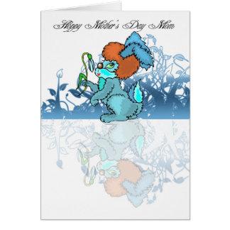 Mamã Hoppy do dia das mães, serindo de mãe a Cartão