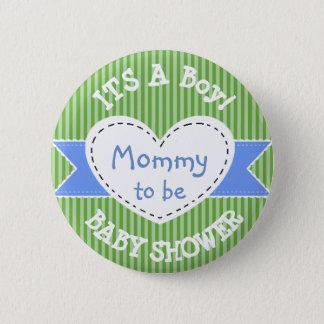 Mamã listrada azul do botão do chá de fraldas a bóton redondo 5.08cm