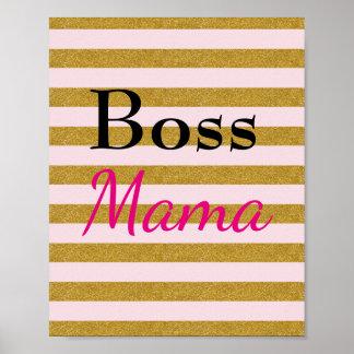 Mama Listrado Poster do chefe