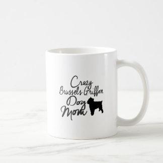 Mamã louca do cão de Bruxelas Griffon Caneca De Café