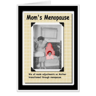 Mamã menopáusica cartão