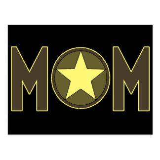 Mamã militar cartão postal