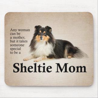 Mamã Mousepad de Sheltie da Tri Cor