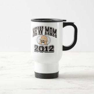 Mamã nova engraçada 2012 caneca térmica