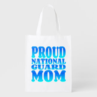 Mamã orgulhosa da guarda nacional sacolas ecológicas para supermercado