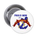 Mamã orgulhosa de um marinheiro dos E.U. Boton