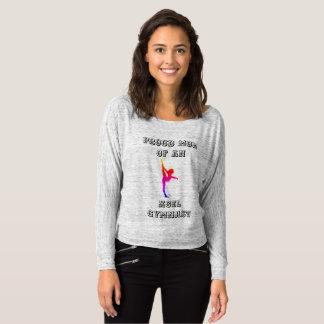 Mamã orgulhosa de uma camisa do Gymnast de Xcel