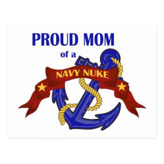 Mamã orgulhosa de umas armas nucleares do marinho cartão postal