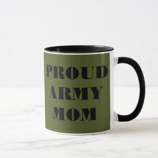 Mamã orgulhosa do exército da caneca