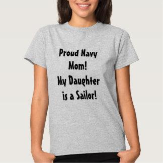 Mamã orgulhosa do marinho de uma camisa da filha camisetas