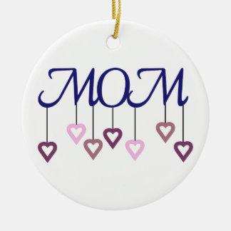 Mamã Ornamento De Cerâmica Redondo