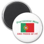 Mamã portuguesa orgulhosa imãs de geladeira