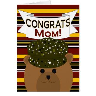 Mamã - soldado Congrats do exército! Cartao