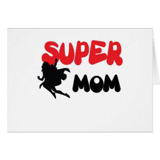 Mamã super cartão comemorativo