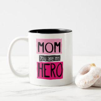 Mamã você é minha caneca do gráfico do herói