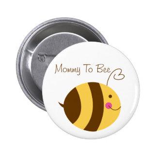 Mamães ao botão do chá de fraldas da abelha pins