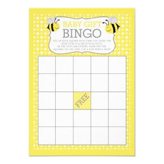 Mamães ao jogo do Bingo do presente do bebê do chá Convite 12.7 X 17.78cm