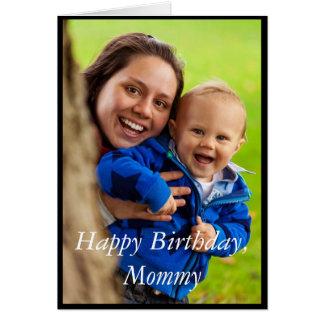 Mamães do feliz aniversario da foto - cartão